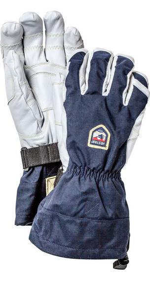 Hestra Army Leather Heli Ski Ergo Grip 5-Finger Marin/Offwhite